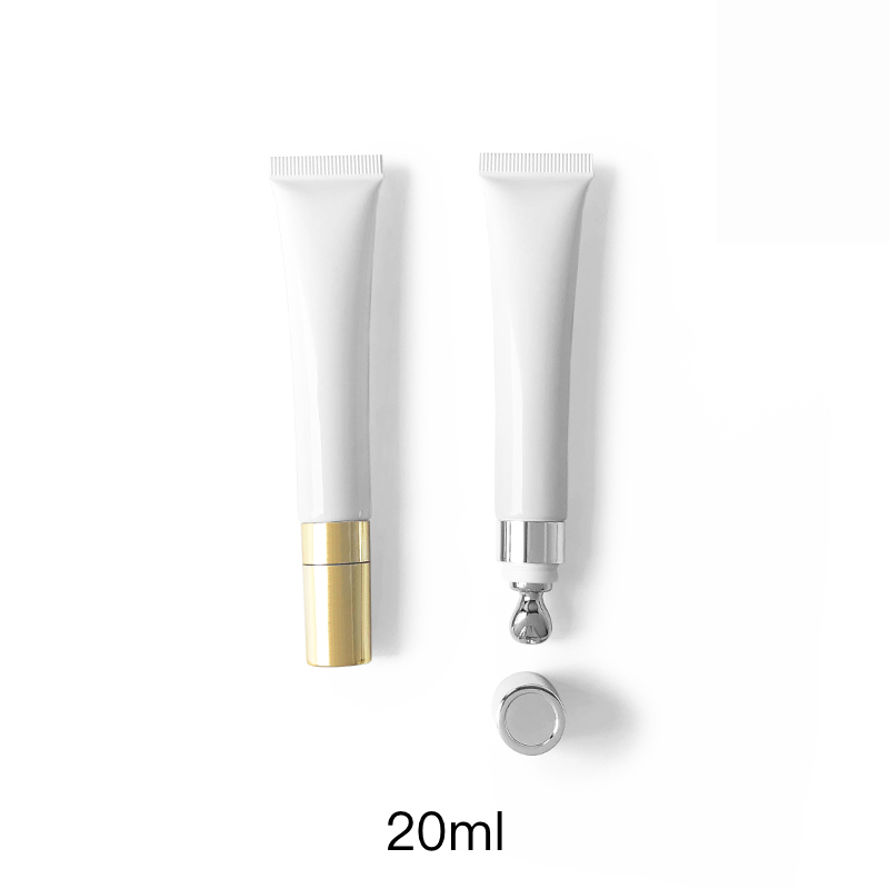 Free Shipping 15g 20g Empty Cosmetic Container For Eye Cream Essential Refillable Bottle Lip Balm Metal Massage Top Soft Tube