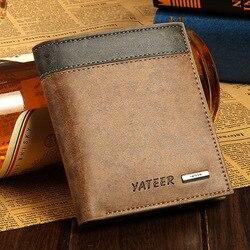 Freies verschiffen neue stilvolle Männer brieftasche + PU Leder + Taschen Kupplung Cente Bifold Geldbeutel ,100% garantie + großhandel WB119