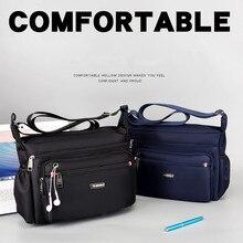 Large Capacity Fashion Casual Mens Shoulder Bag Nylon Crossbody Bags Single Strap Solid Zipper Female Flep