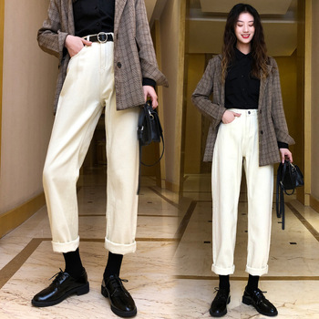 Vintage Stylish Pockets Darts Jeans Women 2020 Fashion High Waist Zipper Fly Denim Harem Pants Chic Jean Femme Trousers цена 2017