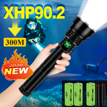 XHP90.2 Most Professional Diving Led flashlight IPX8 waterproof XHP70 underwater Lantern 18650 OR 26650 Rechargeable Torch light
