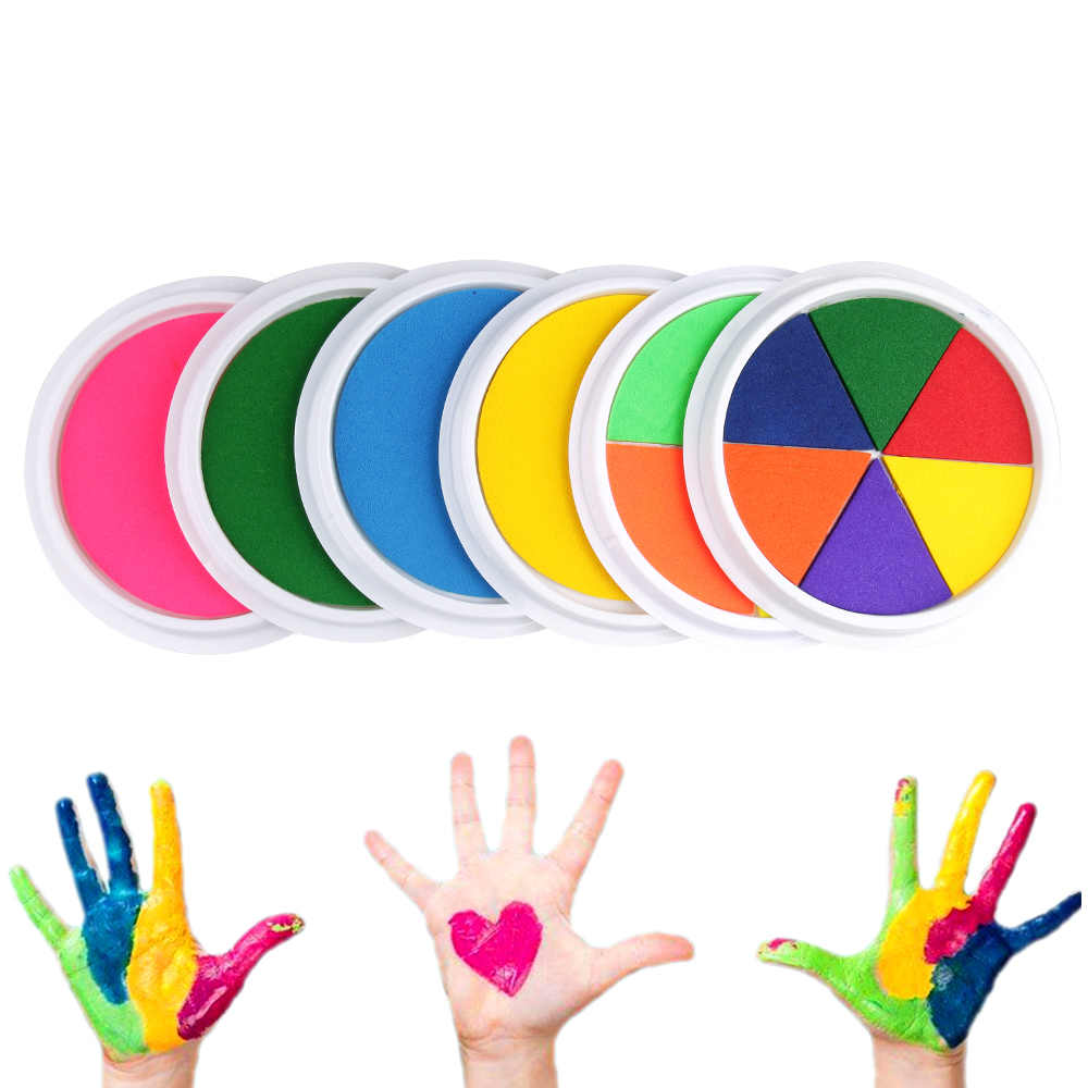 Kids DIY Finger Painting Drawing Toys Ink Pad Stamp Mat Funny Graffiti Drawing Craft Inkpad Toy for Children Education Toys