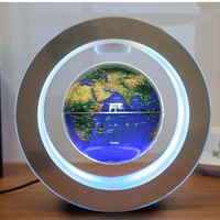 Auto Rotating Desktop Office Gift Decorative Anti gravity Magnetic Levitation Home World Map Floating Globe Led 4 Inch Earth