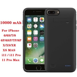Hot 10000mah Power bank case For iPhone 6 6s 7 plus case Battery Charger Case For iPhone X XS XR 11 Pro Power Bank Charging Case