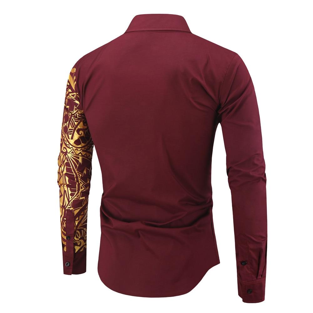 Hff89e9f60e83489ca0bc76634b181fbaH 2021 Luxury Gold Black Shirt Men New Slim Fit Long Sleeve Camisa Masculina Gold Black Chemise Homme Social Men Club Prom Shirt