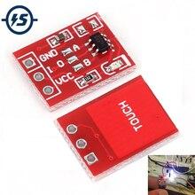 Módulo do interruptor de chave de toque ttp223, interruptor capacitivo com botão de toque autotravamento/sem bloqueio, toque capacitivo com 10 peças interruptores