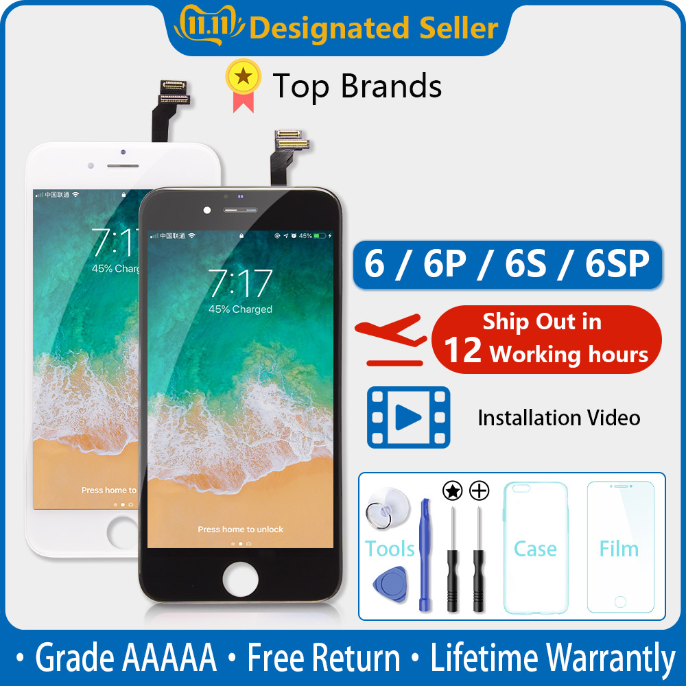 White&Black AAAAA Brand New For iPhone 6 6G LCD Display Touch Screen Digitizer Assembly For iPhone6 4.7'' No Dead Pixel + Gift