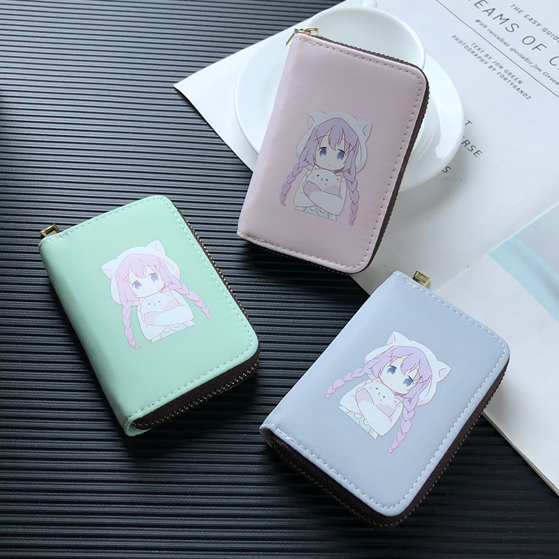 APP BLOG Cartoon Anime Miss Kobayashi's Dragon Maid Cute Lovely Women Card Holder Case Wallet Case Bag For Driver's License 2019 image