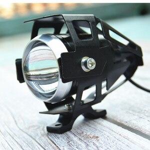 Image 4 - Lâmpada de farol de motocicleta qipo, u5, led, holofotes, hi/lo, acessórios 12v, para honda yamaha