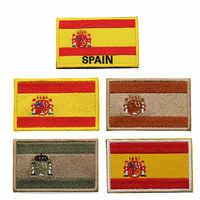Parche para ropa bordado 3D con bandera de España, sombrero, brazalete militar, insignia Moral, gancho y mochila Loop, pegatinas de etiqueta deportiva