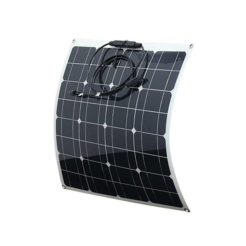 50W 18V Mono Tấm Pin Năng Lượng Mặt Trời Sạc Pin Nhỏ Giọt Cho Điện Thoại Xe Thuyền #5
