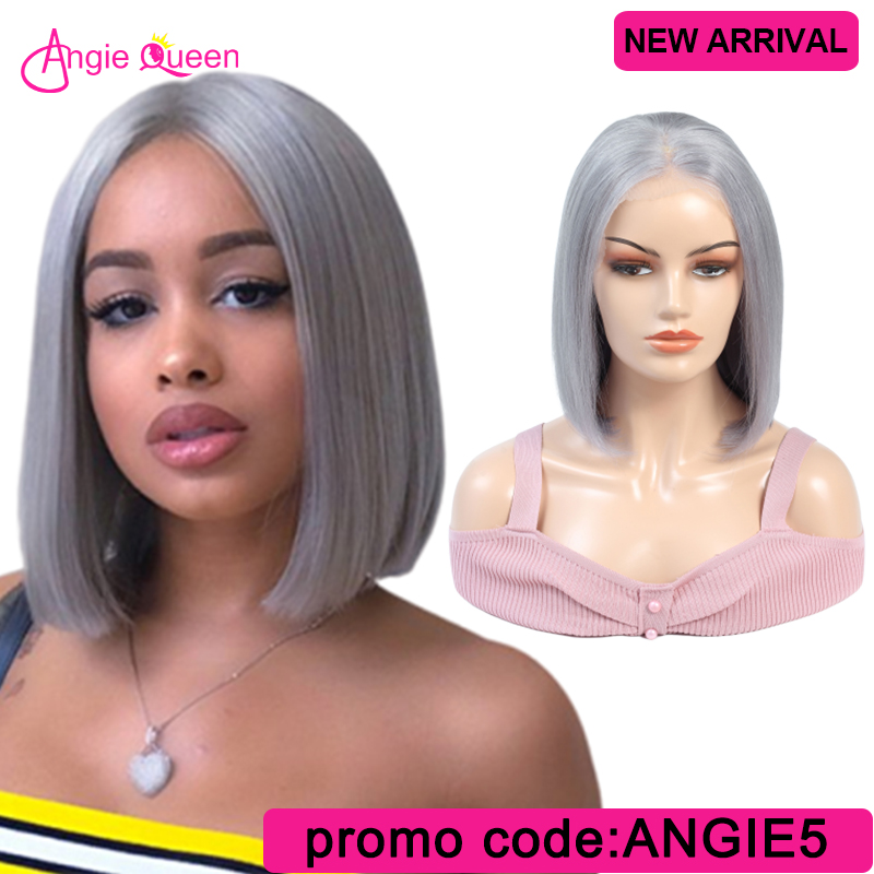 Colorful Straight Lace Front Human Hair Wig Brazilian Hair Wig Remy Hair Wig Purple/pink/grey/blonde Wig 150% Bob Wig 12 14 16