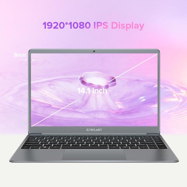 Teclast F7 Plus 2 14.1 Inch Laptop 8GB RAM 256GB SSD Windows 10 Intel Celeron N4120 Intel UHD Graphics 600 Mini-HDMI Notebook 3