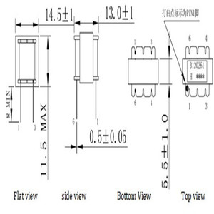 Image 3 - 50pcs 오디오 변압기 600OHM 절연체 변압기 오디오 1:1 변압기 변압기 600 : 600 EI14 변환