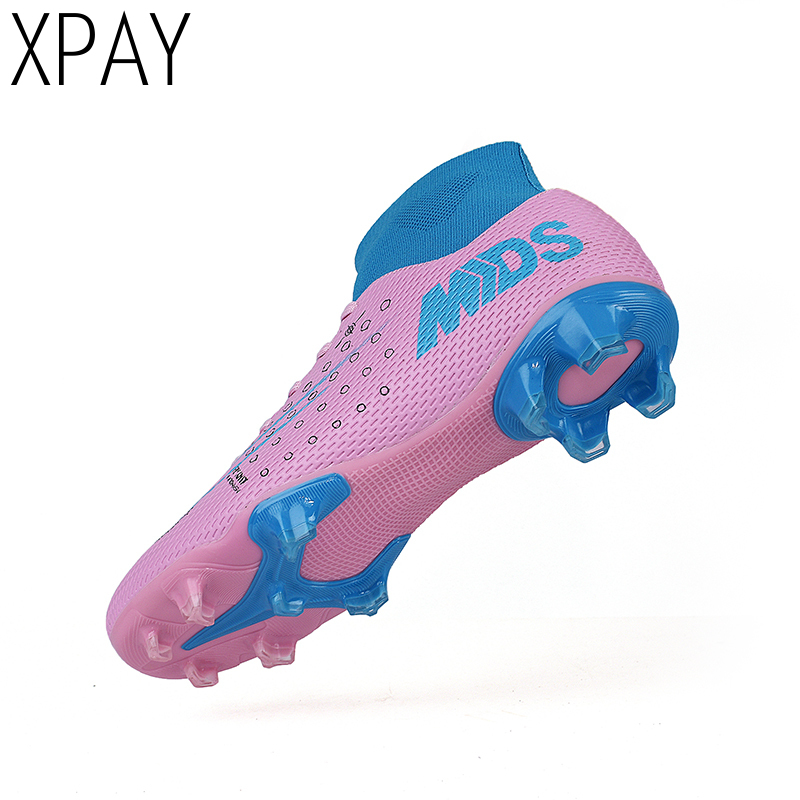 Men's High Ankle Turf Sole Indoor Cleats Football Boots Shoes Soccer Cleats 2020