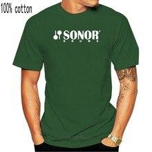 Sonor – t-shirt manches courtes pour homme, avec Logo tambour, noir