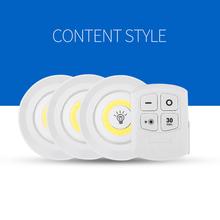 Zasilanie bateryjne możliwość przyciemniania światła podszawkowe LED COB światła LED szafy światła z pilotem do szafy łazienka tanie tanio ABEDOE cabinet light Suche baterii Przełącznik
