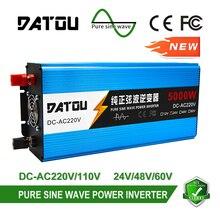 5000W Pure Sine Wave Inverter LCD Display 24V 48V 60V to 220V  Converter Car Power Inverter Rated 2500W Battery Transformer