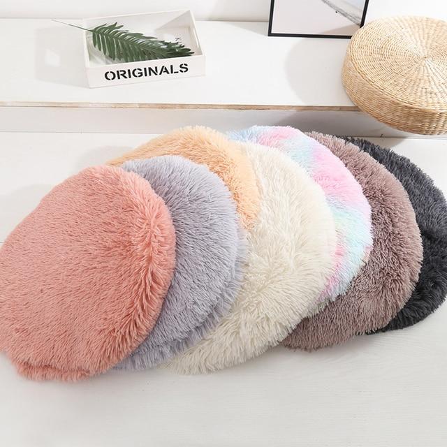 Pet Cat Dog Nest Dual Use Warm Soft Sleeping Bed  2