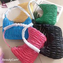 Hiboom 2021 HOBO materiał nylonowy torebka prezent prezent torba na ramię portfel luksusowej marki projekt tanie tanio W KSZTAŁCIE BAGIETKI Torby na ramię Na ramię i torby crossbody CN (pochodzenie) Torebki