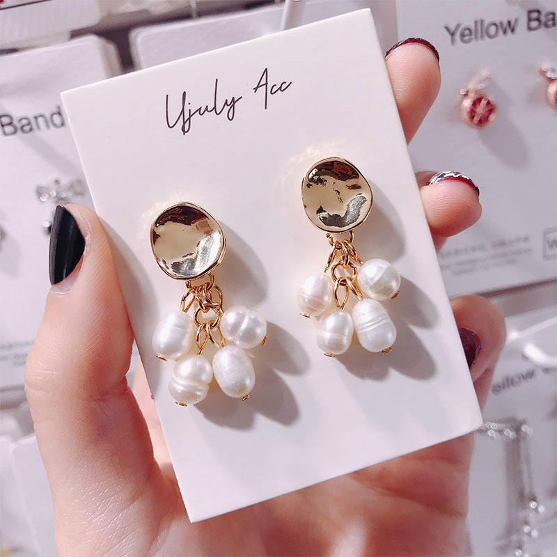 Hff8ac7d987364262b98e007d6236d83dU - New Arrival Metal Classic Round Women Dangle Earrings Korean Fashion Circle Geometric Earrings Sweet Small Jewelry