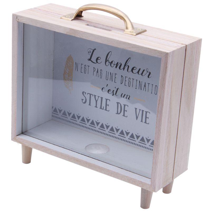 Nordic Ins Creative Wooden Art Fresh Piggy Bank Bedroom Desktop Decoration Ornaments Sundries Storage Box Props(B2)