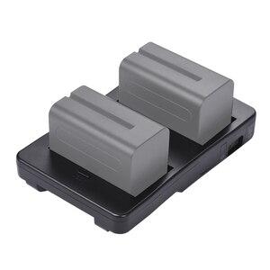 Image 2 - F2 BP NP F batterie à v mount batterie convertisseur adaptateur plaque Fit F970 F750 F550 pour Canon 5D2 5D3 DSLR caméra lumière LED moniteur