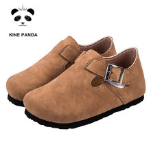 KINE PANDA Kids Shoes for Girl Cork Flats Children Shoes Boys Girls 1 3 5 7 9 Years Old Primary School Student Toddler Baby Shoe kine panda children shoes girls flats hello kitty baby shoes pu leather little kids shoes for girl soft toddler girls shoes