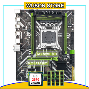 Runing X79 motherboard with dual M.2 slot MATX X79 motherboard with CPU Xeon E5 2670 RAM 32G(4*8G) custom made service available