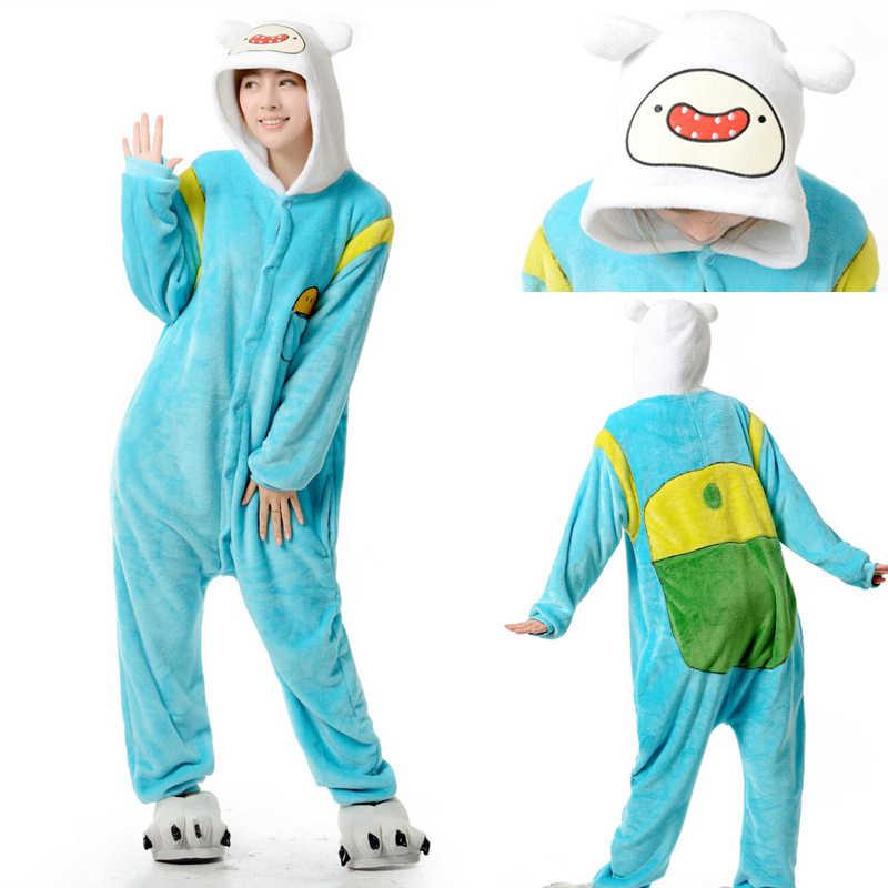 HKSNG Nuovo Collegamento Per Adulti Finn E Jake Tute monopezzo Adventure Time Costume Cane Giallo Pigiami Animale Del Partito di Halloween Tute e Tute da Palestra Kigurumi