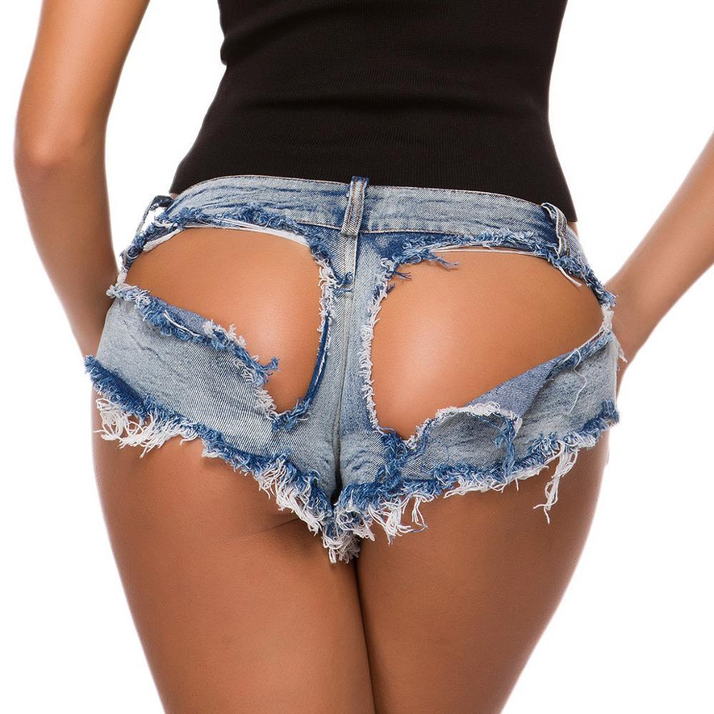 Newest Hollow Out Women Sexy Shorts Hole Super Denim Jeans Mini Shorts Low Waist Slim Female DS Clubwear Fashion Booty Shorts