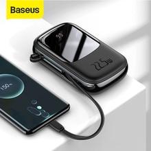 Baseus ポータブル充電器20000mAh,外部バッテリー,パワーバンク,クイックチャージ,電話用