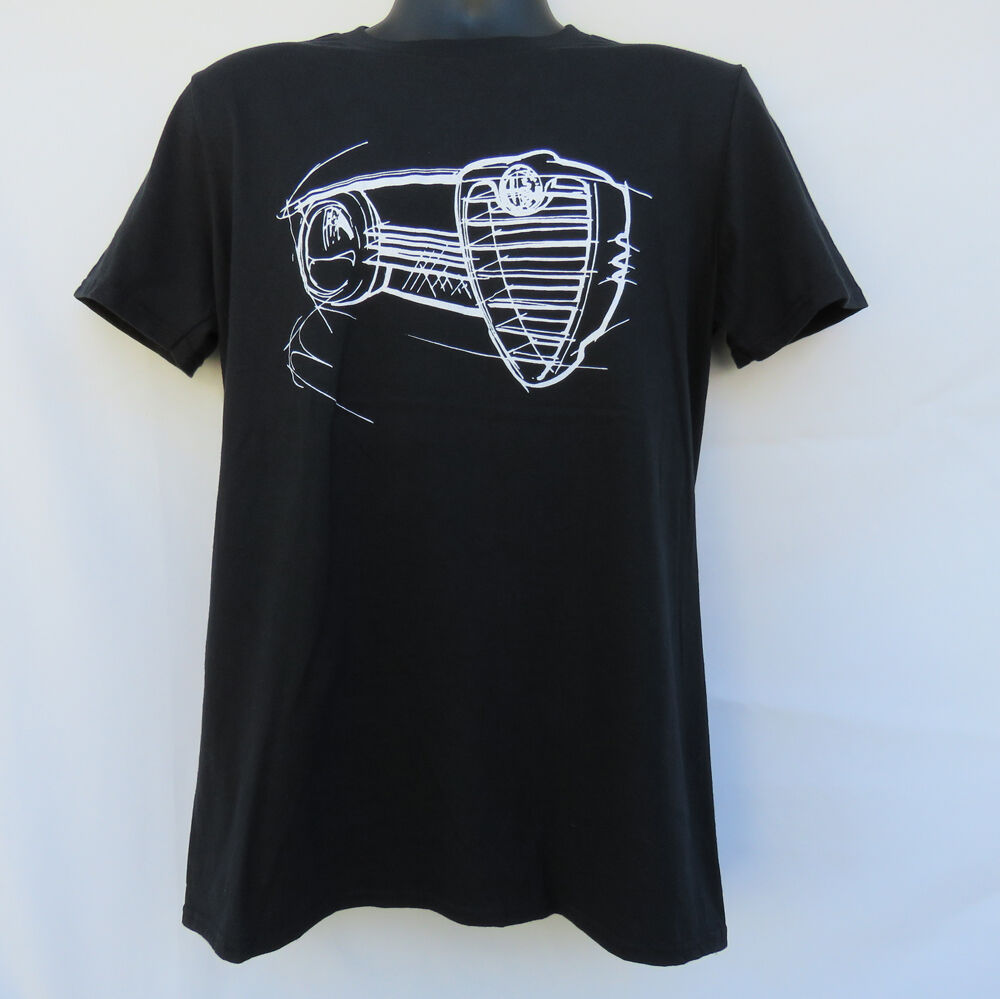 Alfa Romeo GTV sports car t-shirt black SCCA Racing SPIDER GTA Giulia Sprint