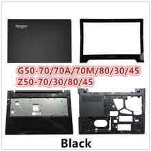 LCD couverture arrière Top Case ordinateur portable pour Lenovo G50 70/70A/70 M/80/30/45 Z50 70/30/80/45 LCD lunette avant/repose main/fond de couverture