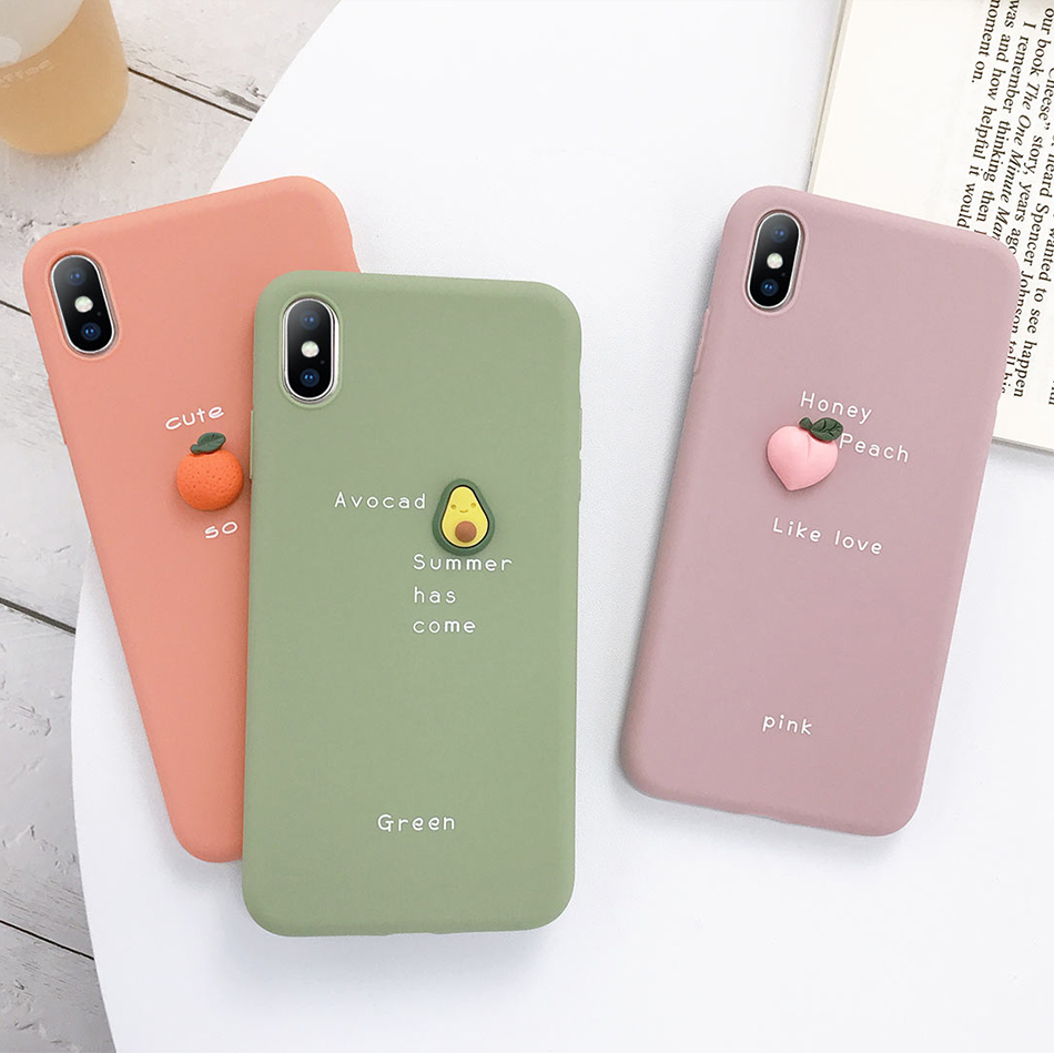 cute nice looking 3D Candy Color Soft Phone Case for iPhone