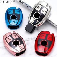 حافظة مفاتيح جديدة ناعمة من البولي يوريثان عالي الجودة لهواتف مرسيدس بنز CLS CLA GL R SLK AMG A B C S الفئة ملحقات حامل تصفيف السيارة