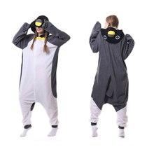 Unisex Adult Penguin Pajamas One Piece Costume Cosplay Animal Onesie Homewear Lounge Wear Onesie Pajamas