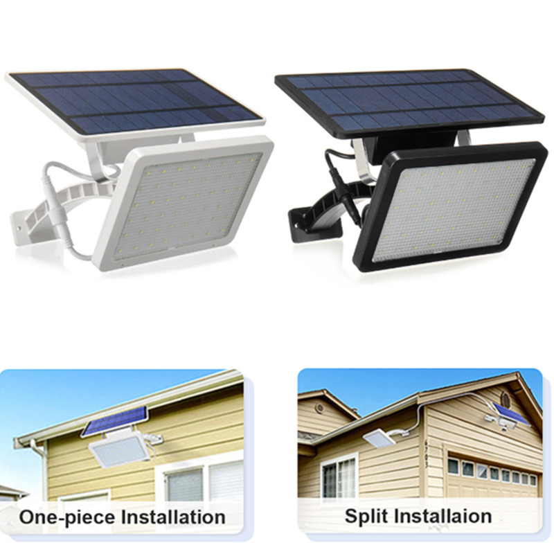 18W LED Solar Panel Powered Light Garden Street 48LED Lamp Waterproof Wall Light Energy Saving Street Yard Path Outdoor