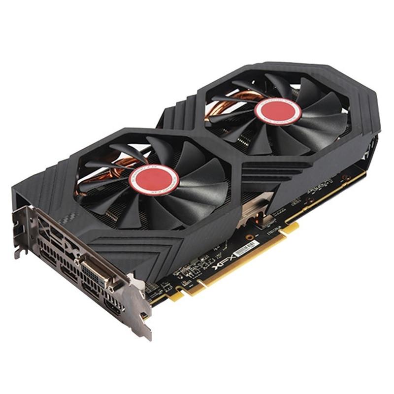 Видеокарты XFX RX 580 8 ГБ, видеокарты AMD Radeon RX580 8 Гб 2304SP, видеокарты GPU, настольный компьютер, игра, видеокарта PUBG-1