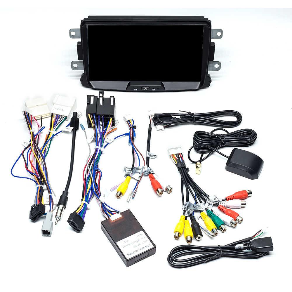 1 Din Android 10 Mobil Radio Multimedia untuk Dacia Lodgy Logan Kain Lap Sandero Renault Captur/Lada/Xray Stereo DVD Gps Navigasi