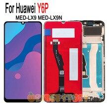 Wyświetlacz LCD dla Huawei Y6p ekran telefonu czujnik dla Huawei y 6p MED LX9 MED LX9N ekran dotykowy czujnik Hauwei y6p wymiana ramki