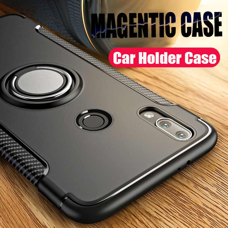 Luxury Shockproof Magentic Phone Case For Xiaomi Redmi Note 7 6 8 Pro Case Bumper Cover For Redmi 7 6 6a Car Holder Ring Case