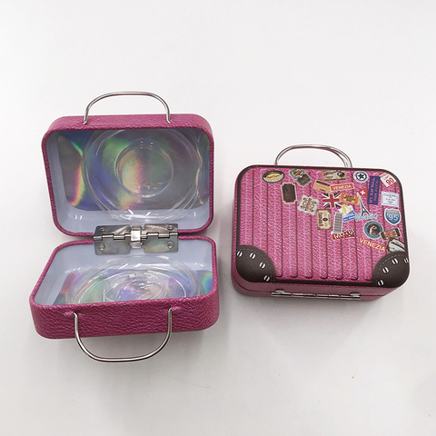 cilios rosa bonito caso de lash bolsa