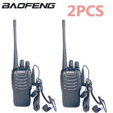 2ชิ้น/ล็อต Baofeng BF 888S Walkie Talkie วิทยุชุด BF 888S UHF 400 470MHz 16CH walkie Talkie วิทยุ