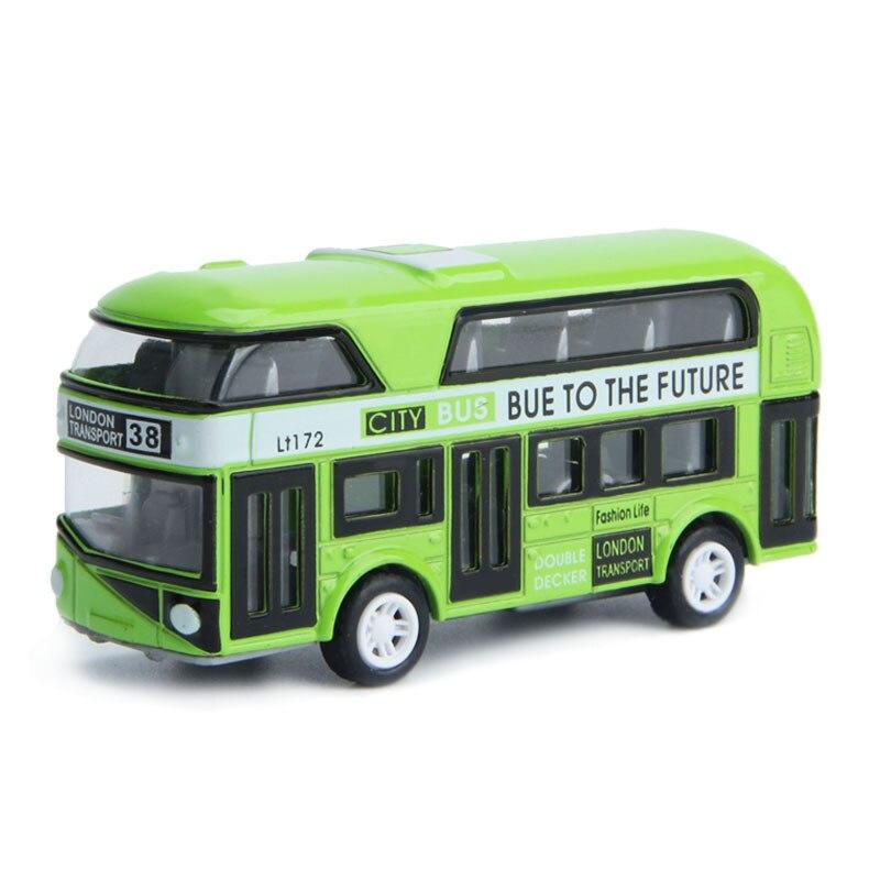 Double-Decker Bus London Bus Design Car Toys Sightseeing Bus Vehicles Urban Transport Vehicles Commuter Vehicles,Green
