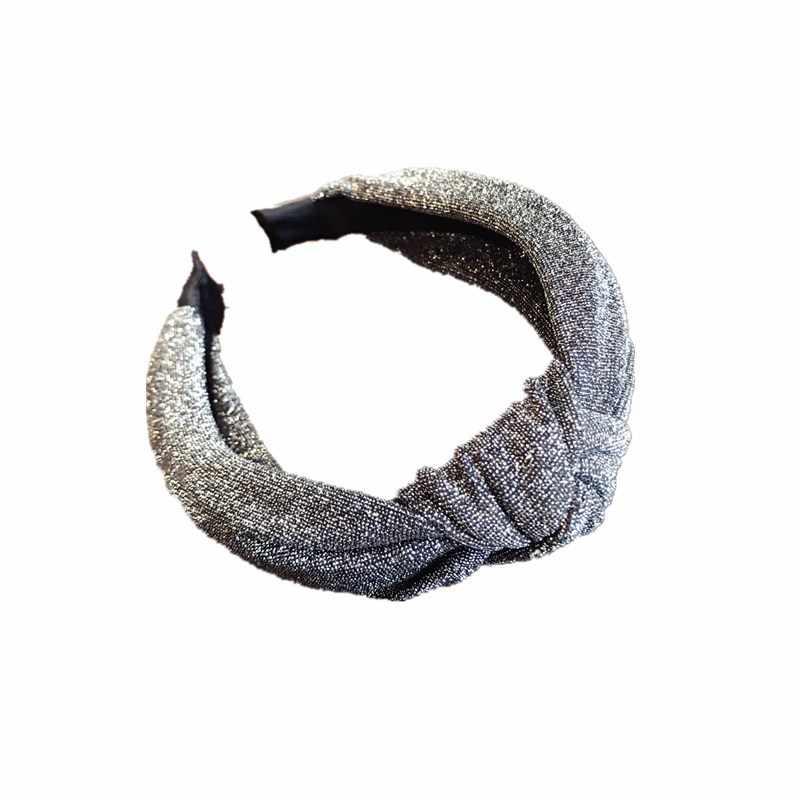 Helisopus, новинка 2019, бронзовые головные тканевые повязки для младенцев, средний узел, скрученный бант, головная повязка для женщин, широкий боковой обруч для волос, аксессуары для волос