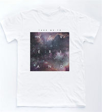Neverland Galaxy T Shirt Quote Indie Hipster Top Retro Peter Pan Tumblr Gift Tee Shirt Streetwear Tops(China)