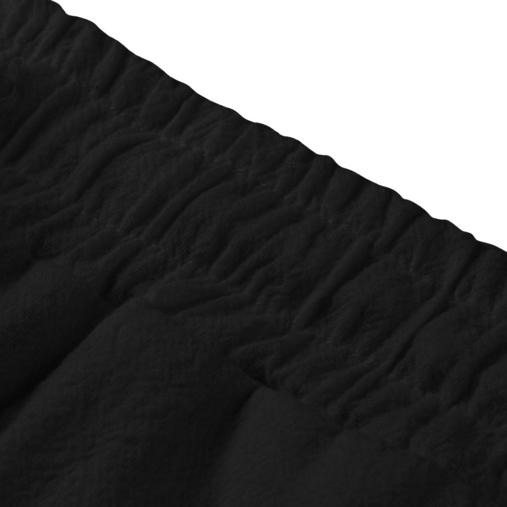 Hff8c6a0e70c44ce8a5dab50672c3219cr Feitong Fashion Cotton Linen Pants Men Casual Work Solid White Elastic Waist Streetwear Long Pants Trousers