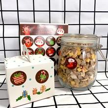 1600ชิ้น/ล็อตKawaii Merry Christmas Santa ClausกวางรอบDIY Self กาวตกแต่งสติกเกอร์ป้ายของขวัญขายส่ง