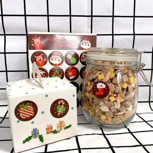 Image 1 - 1600 шт./лот Kawaii Merry Christmas, Санта Клаус, олень, круглые самоклеящиеся декоративные подарочные наклейки, подарочные этикетки, оптовая продажа